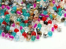 120 Böhmische Glasschliffperlen 3mm Mix Kugel Glasperlen Glassbeads #3209