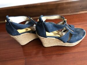 MICHAEL KORS FILIPA Damita Wedge Canvas size 6 blue