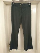 "LADIES GREY BOOTCUT FLARED TROUSERS PANTS SIZE 8 BY NEW LOOK 29""LEG"