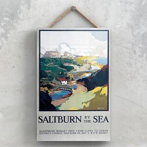 SALTBURN SEA ORIGINAL NATIONAL RAILWAY POSTER ON A PLAQUE VINTAGE DECOR