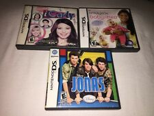 3 Nintendo DS Games: Jonas-iCarly-Imagine Babysitters CIB COMPLETE & TESTED! FUN