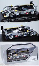 SPARK 1100143 Audi r18 TDI Le Mans 2011, 1:43, publicitaires boîte