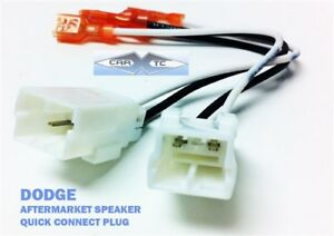 DODGE CAR SPEAKERS WIRE HARNESS Connection CLIP ADAPTER PLUG 2002-2010