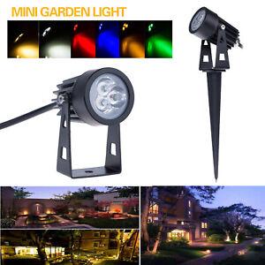 3W Waterproof LED Flood Spot Light Lawn Lamp Garden Wall Yard Path Light spike