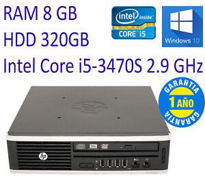 PC HP 8300 Ultra Slim - Ultrafino - i5-3470S 2.9 GHz W10 RAM 8GB HDD 320GB