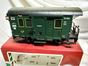LGB g scale postal wagon