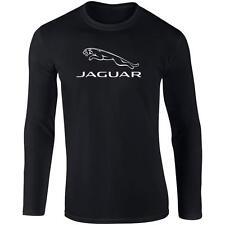 Manga Larga camiseta negra con Blanco Moderno Jaguar Logo XS Tipo XJ XJS XK XE F