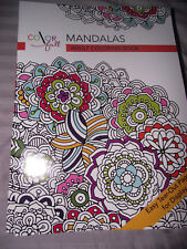 BRAND NEW Color Full Mandalas Adult Coloring Book Easy Tear Out Pages Paperback