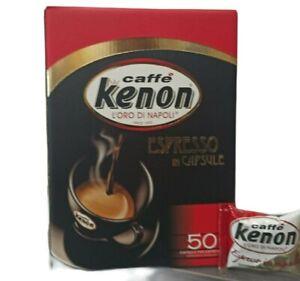Caffè Capsule kenon 50 bustine monodose compatibile con marchio Nespresso