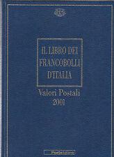 LIBRO UFFICIALE POSTE + FRANCOBOLLI BUCA LETTERE 2001 LIBRI ALBUM COMPLETI RARO