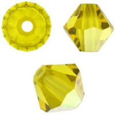 Swarovski Crystal Bicone. Citrine AB Color. 4mm. Approx. 144 PCS. 5328