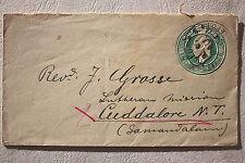 14004 Ganzsache Umschlag Indien 1904 India postage Cover HALF ANNA