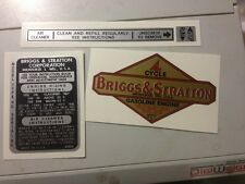 Briggs & Stratton decals for Early 2 & 3-hp Engines 81302 Set of 4