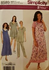 8589 Simplicity Pattern Maternity Dress or Top, Jumper & Pants or Shorts Sz 6-10