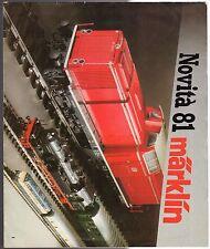 catalogo modellismo ferroviario MARKLIN H0 NOVITA' 1981