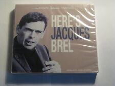 Jacques Brel - Here's Jacques Brel CD (SEALED) 19 track Euro import