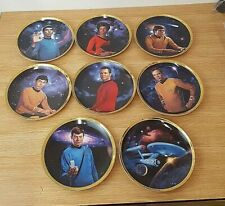 More details for star trek  25th anniversary plates hamilton collection limited edition boxed x 8