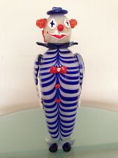 "Extra Large 13.5"" Glass Clown Sailor Handmade Felina Figurine Statue Collectible"