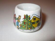 Funny Design Ceramic Candlestick Holder ~ Christmas Theme