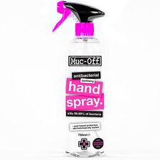 MUC OFF Antibacterial Sanitising Hand Spray 750ml 80% Alcohol Kills 99.99% Germs