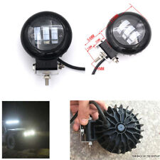 Car Truck SUV 72W 12V/24V 10800LM 6000K Round LED Worklight Foglight Headlight