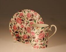 """Royal Albert British"""" Pink Polka"""" Pattern Demitasse Cup & Saucer"""