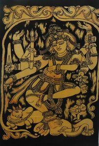 Tapestry Tie-Dye Wall Hanging Natraj Siva Indian Poster Home Decor Art Bohemian