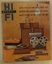 MODERN HI FI MARCH 1960 MACO MAGAZINE 4 TRACK STEREO ELECTROSTATIC LOUDSPEAKERS