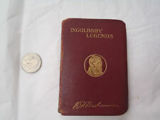 """Almost Miniature Book """"Ingoldsby Legends by R H Barham"""" Leather Book c. 1890"""