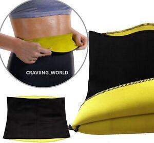 NEOPRENE STOMACH SLIMMING HOT EXERCISE BELT FAT BURNER WAIST BODY SHAPER