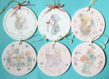 Precious Moments lot - Jesus Blessings Round Ball Christmas Ornament [set of 6]