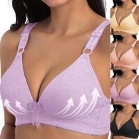 Womens Seamless V-collar No Steel Ring Sleep Delicate Bra Everyday Underwear ILC