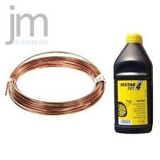 10m Bremsleitung Kupfer +  1L TEXTAR Bremsflüssigkeit DOT4