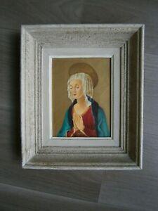 """DESSIN ANCIEN """"VIERGE MARIE"""" AQUARELLE ART RELIGIEUX St ICONE RENAISSANCE DECO"""