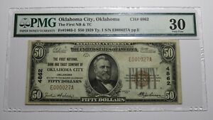 $50 1929 Oklahoma City Oklahoma OK National Currency Bank Note Bill #4862 VF30