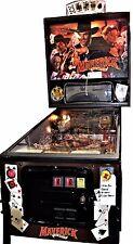 1994 Maverick Pinball Machine, Rare Topper, Excellent Condition