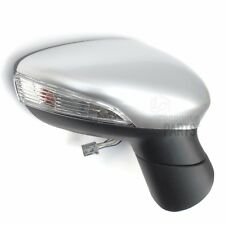 RIGHT DRIVERS SIDE ELECTRIC FULL DOOR WING MIRROR SILVER COVER FORD FIESTA 08-12