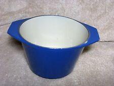 Vintage Le Creuset Cast Iron Fondue Pot Blue Enameled Kitchen - Pan Only