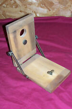 Old Wooden Box Camera Angle Mount Holder Field Folding Plate Tripod Wood Antique