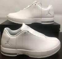 NEW Nike Air Jordan TE Team Elite 2 Low Size:9 White Metalic Silver AO1696 100