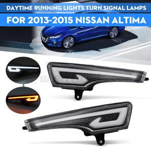 Pair LED DRL Daytime Running Light Lamps For Nissan Teana Altima 2013-2015 12V