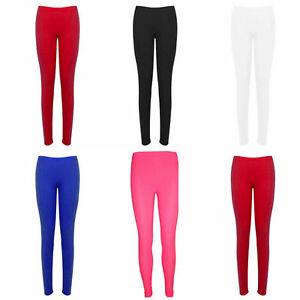 Hot Ladies Women Neon Lycra Stretchy Full Length Leggings - Fancy Dress Party