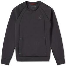 Para Hombre Nike Jordan Flight Tech Crew Sudadera Negra para Hombre - 87495 010 Talla L