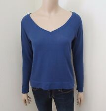 NEW Abercrombie Women V-Neck T-Shirt Tee Size XS Long Sleeve Top Blouse Blue