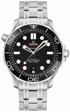 Discounted Brand New Omega Seamaster Black Dial Men's Diver Watch 21030422001001
