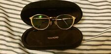 New Tom Ford TF 5476 28E Gold Turquoise Eyeglasses W/Magnetic Clip On Sunglasses