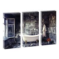 3 Bilder Badezimmer Bild auf Leinwand Poster Deko  Wandbild je 40 cm*80 cm