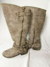 Women's Madden Girl Master Gray Fashion Knee High Riding Boots Size 10 B