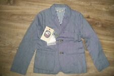 Silvian Heach-boys blue blazer/suit jacket.6y.Cotton.BNWT.RRP 86 £