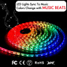 LED Strip Lights Sync To Music 16.4Ft/5M Light 300 SMD 5050 Waterproof Flexible